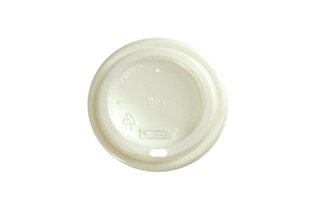 WHITE LIDS FOR BLACK COFFEE CUP WAVE GROOVE 8OZ 1000 UNITS