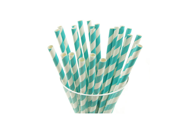 PAPER REGULAR STRAW AQUA 2500 UNITS