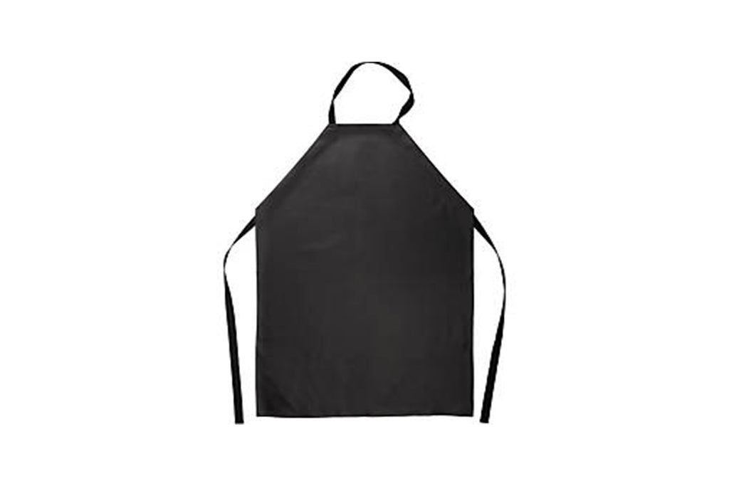 BLACK VINYL APRON WITH BIB 825X1220MM 1 UNIT