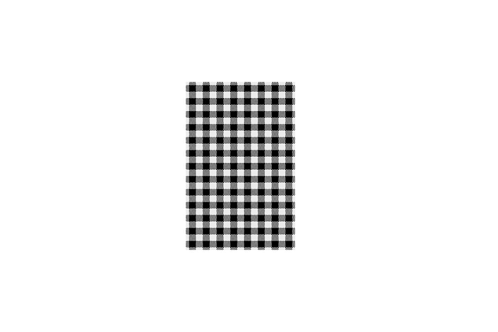 BLACK CHECKED GREASEPROOF PAPER 190 X 310 MM