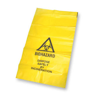 YELLOW BIOHAZARD BAGS 700X1000MM 50 UNITS