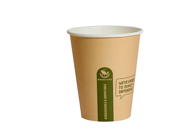 ENVIROCHOICE 12OZ SUPER SINGLE WALL CUP KRAFT 1000 UNITS