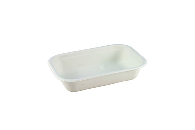 NATURAL FIBRE RECTANGULAR CONTAINER 850ML