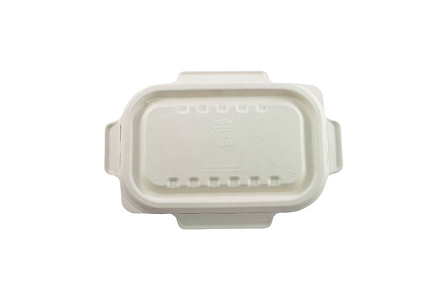 NATURAL FIBRE RECTANGULAR CONTAINER LID 850ML