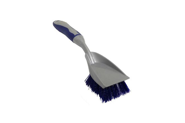 HEAVY DUTY SCRUBBING BRUSH WITH SCRAPER