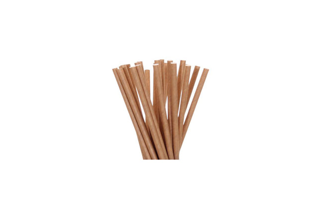 PAPER REGULAR STRAW KRAFT 2500 UNITS