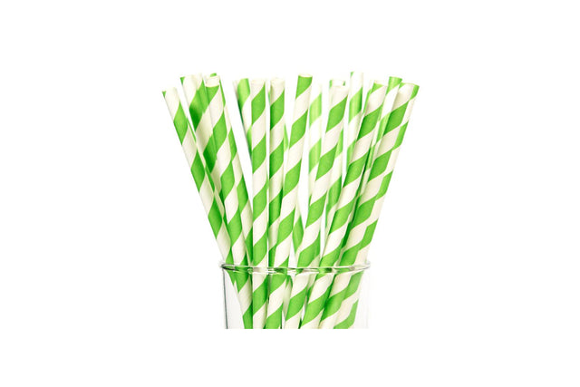 PAPER REGULAR STRAW LIME 2500 UNITS