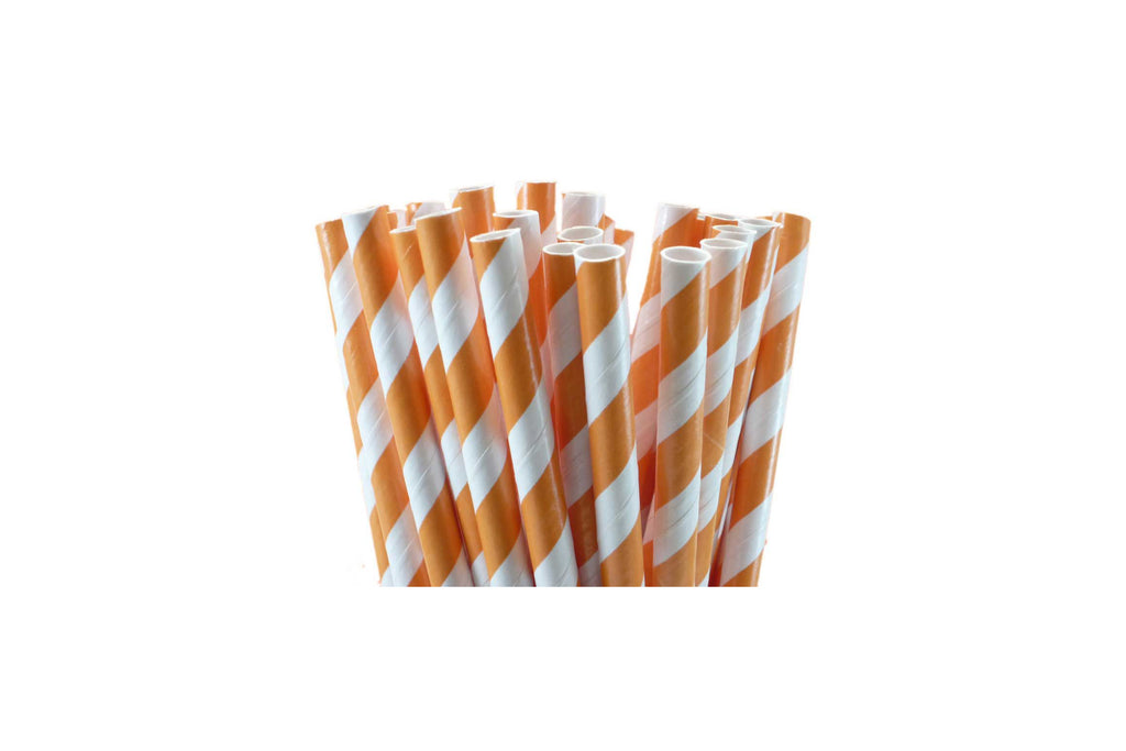 PAPER REGULAR STRAW ORANGE 2500 UNITS