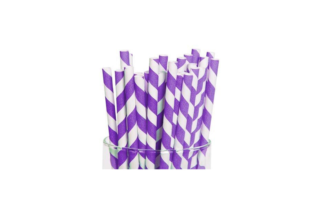 PAPER REGULAR STRAW PURPLE 2500 UNITS