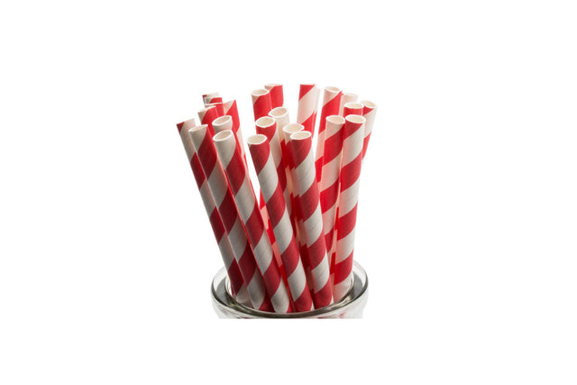 PAPER REGULAR STRAW RED 2500 UNITS
