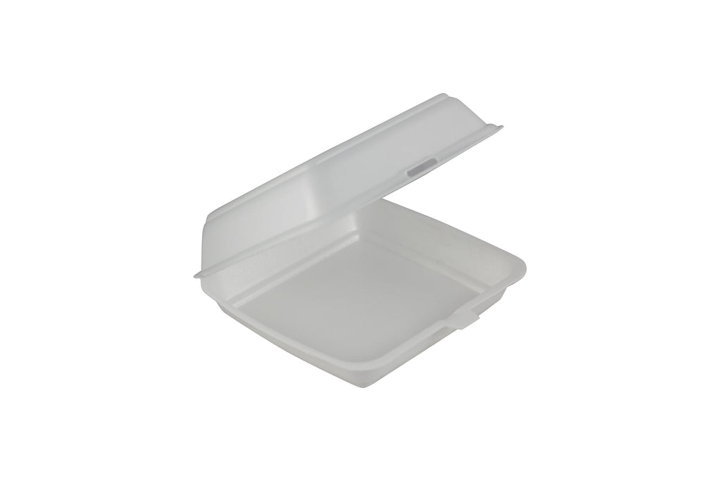 FOAM CONTAINER WITH LID 215X215X70MM 200 UNITS