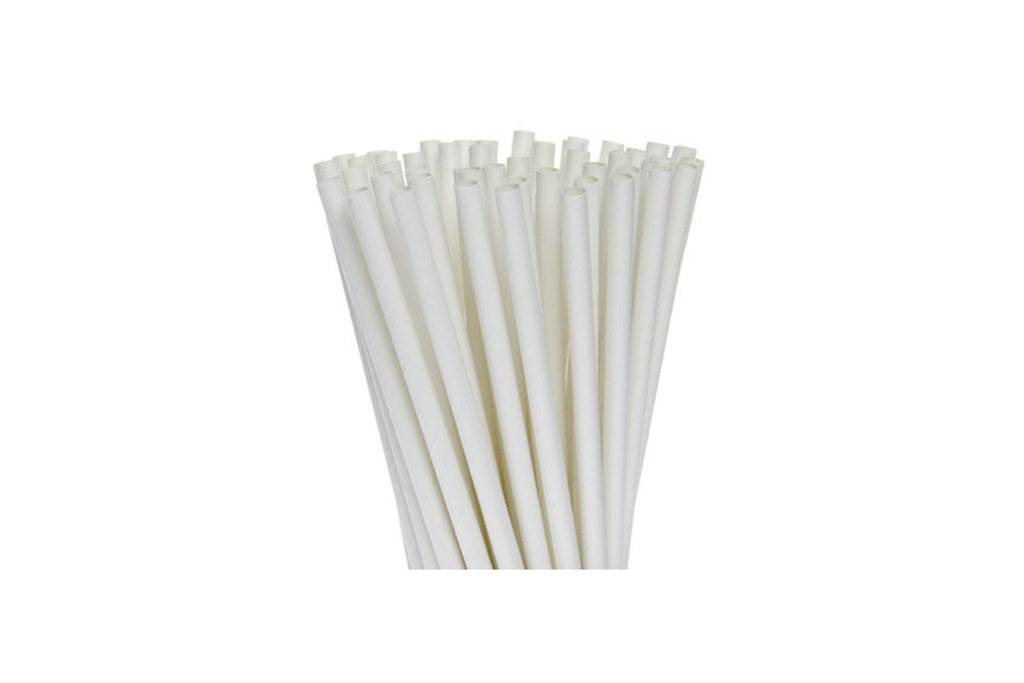 PAPER REGULAR STRAW WHITE 2500 UNITS
