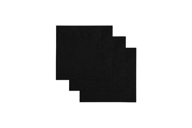 GLEAM COCKTAIL BLACK NAPKINS 240X240MM 2000 UNITS