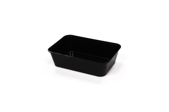 500ML BLACK RECTANGULAR CONTAINERS 500 UNITS