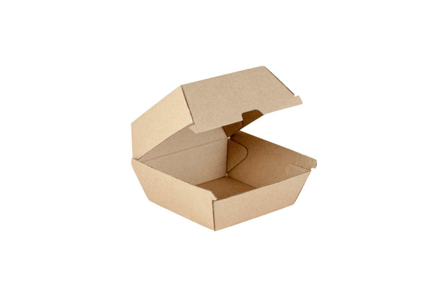 CARDBOARD BURGER CLAM WITH LID 250 UNITS