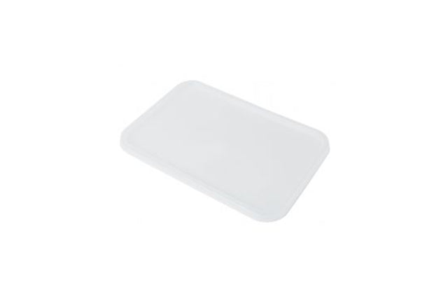 FLAT LIDS FOR 750ML GENFAC RIBBED RECTANGLE CONTAINERS 500 UNITS