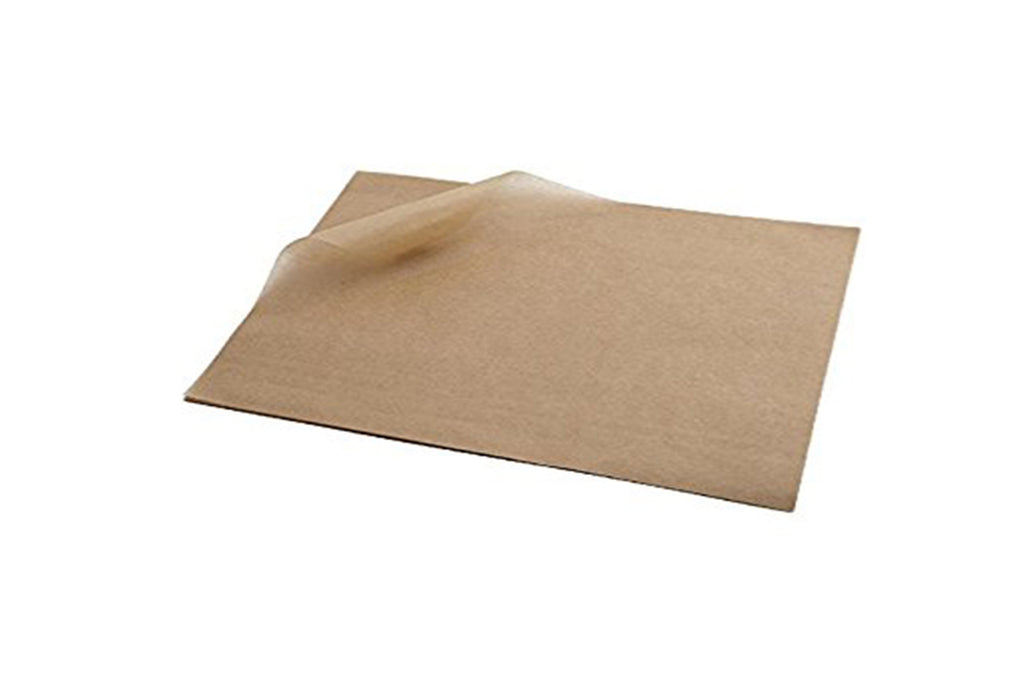 BROWN GREASEPROOF PAPER 330 X 330 MM 800 UNITS
