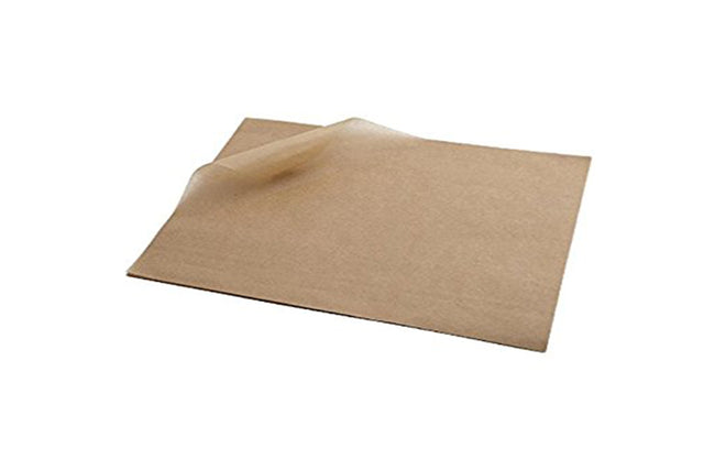 BROWN GREASEPROOF PAPER 190 X 310 MM 200 UNITS