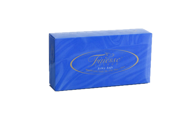 FINESSE 2PLY RECTANGLED FACIAL TISSUES 100 SHEET 48 BOXES