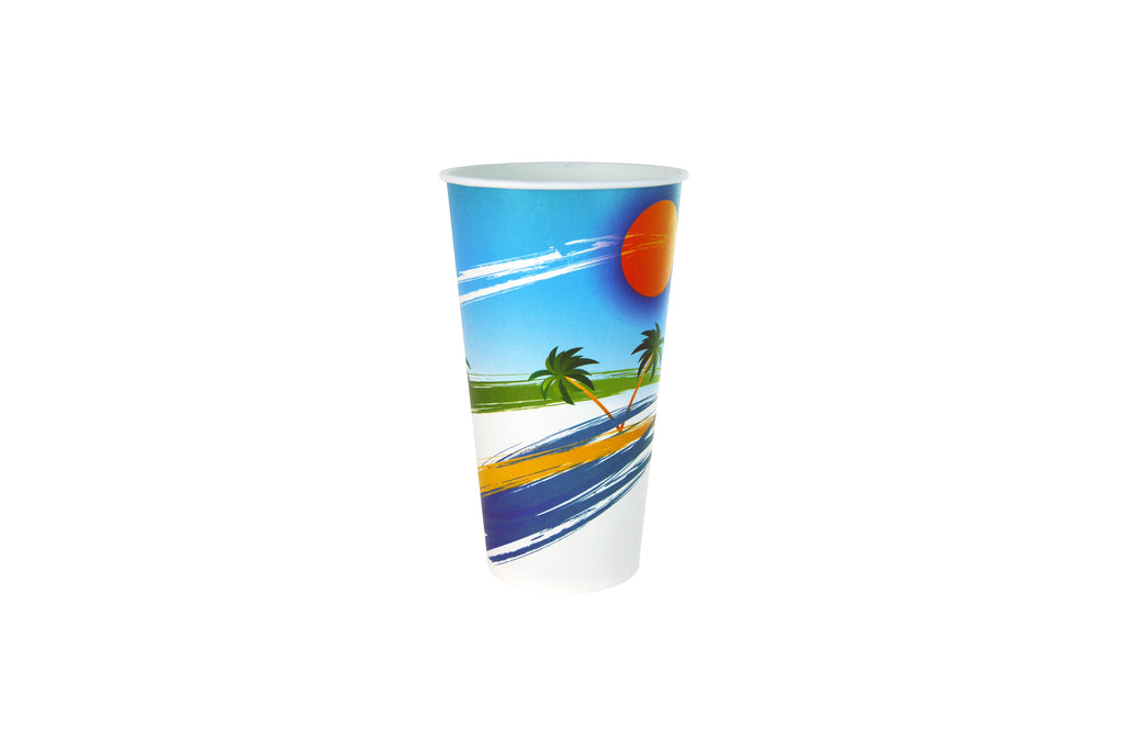 16OZ MILKSHAKE CUPS 1000 UNITS PARADISO PRINTED
