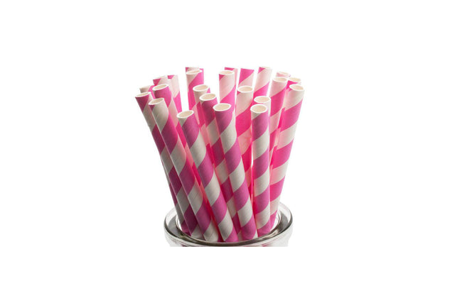 PAPER REGULAR STRAW PINK 2500 UNITS