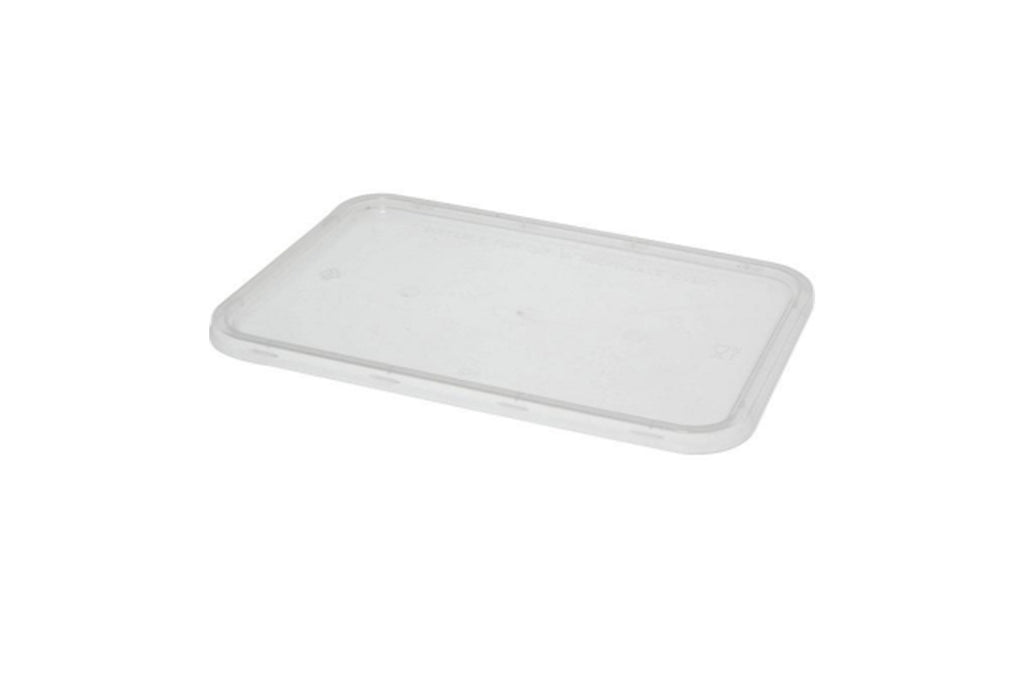 FLAT LIDS FOR 1000ML AUSTASIA CLEAR RECTANGLE TAKEAWAY CONTAINER 500 UNITS
