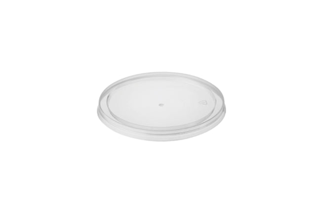 FLAT LIDS FOR ROUND PLASTIC CONTAINER 250ML 500 UNITS
