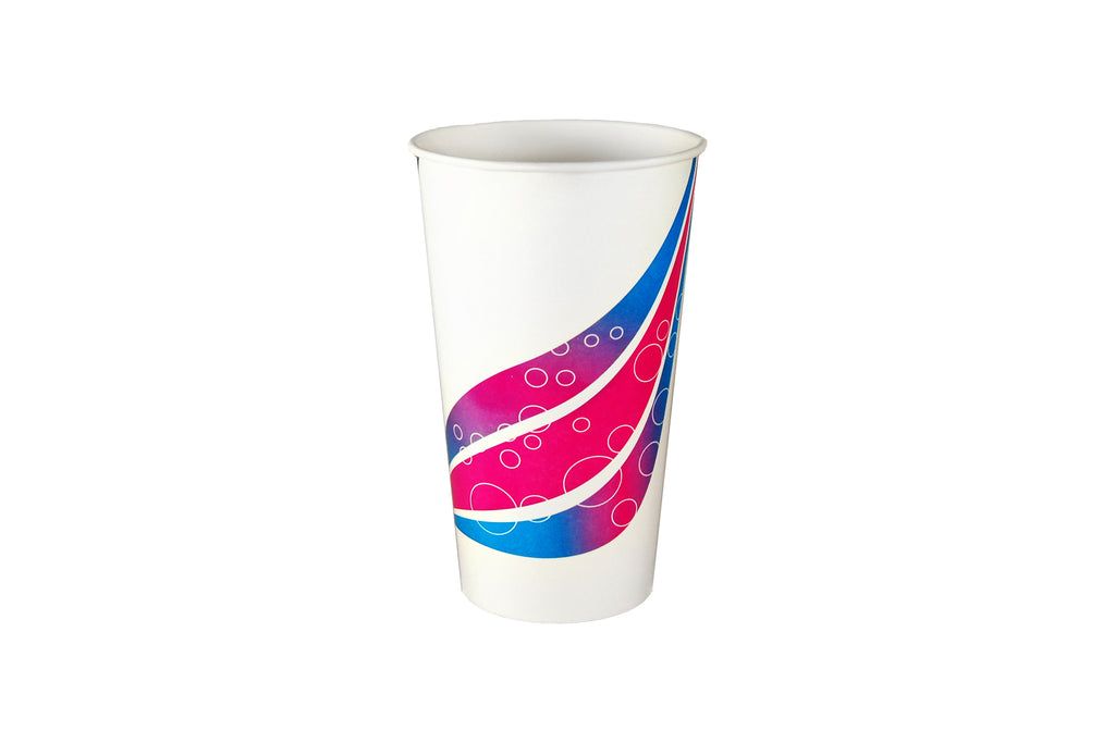 24OZ MILKSHAKE CUPS 500 UNITS SWIRL PRINTED