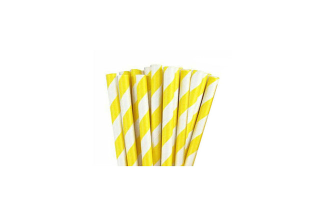 PAPER REGULAR STRAW YELLOW 2500 UNITS