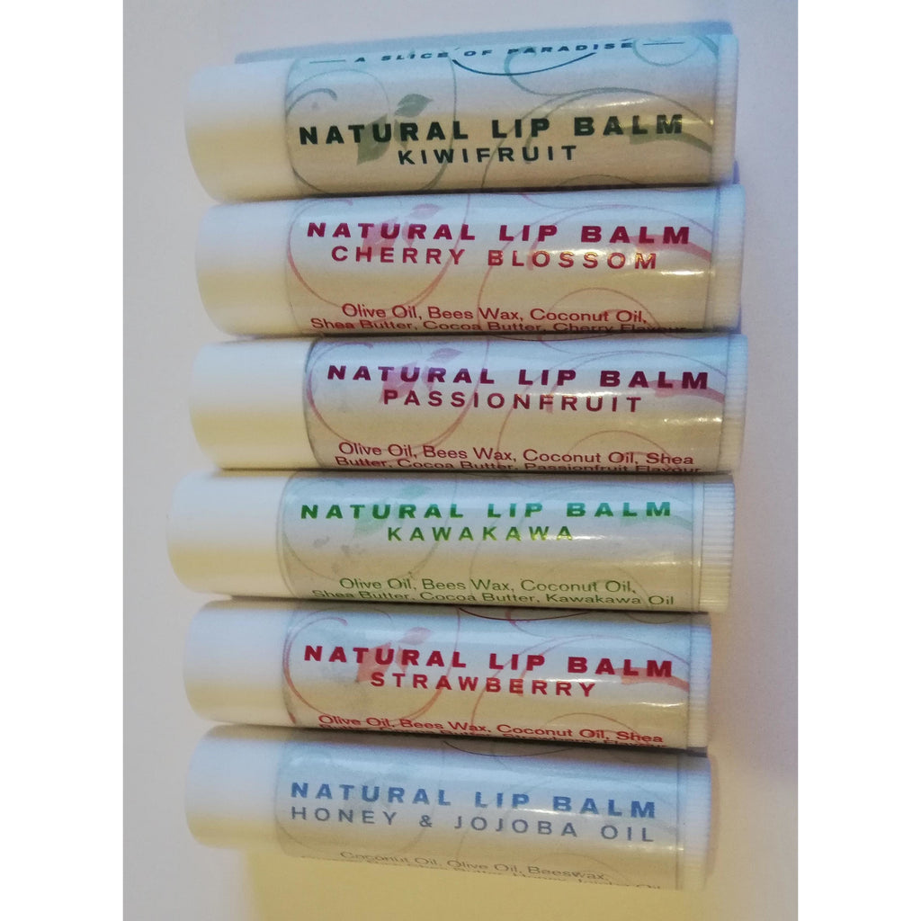 These 100% New Zealand Made beautiful natural lip balms make your lips smooth and soft.  Using only natural organic New Zealand Beeswax and only natural ingredients  It will leave your lips soft and sweet.