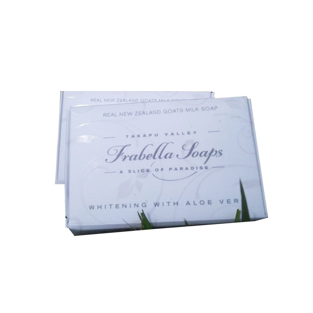 This beautiful Milk Whitening Bar has Aloe Vera and essential oils to naturally create a lighter skin tone. The natural plant extract of aloe vera will reduce redness, spots, blemishes and promote even skin tone,   A natural exfoliant to restore elasticity and encourage new skin growth for younger whiter looking skin.