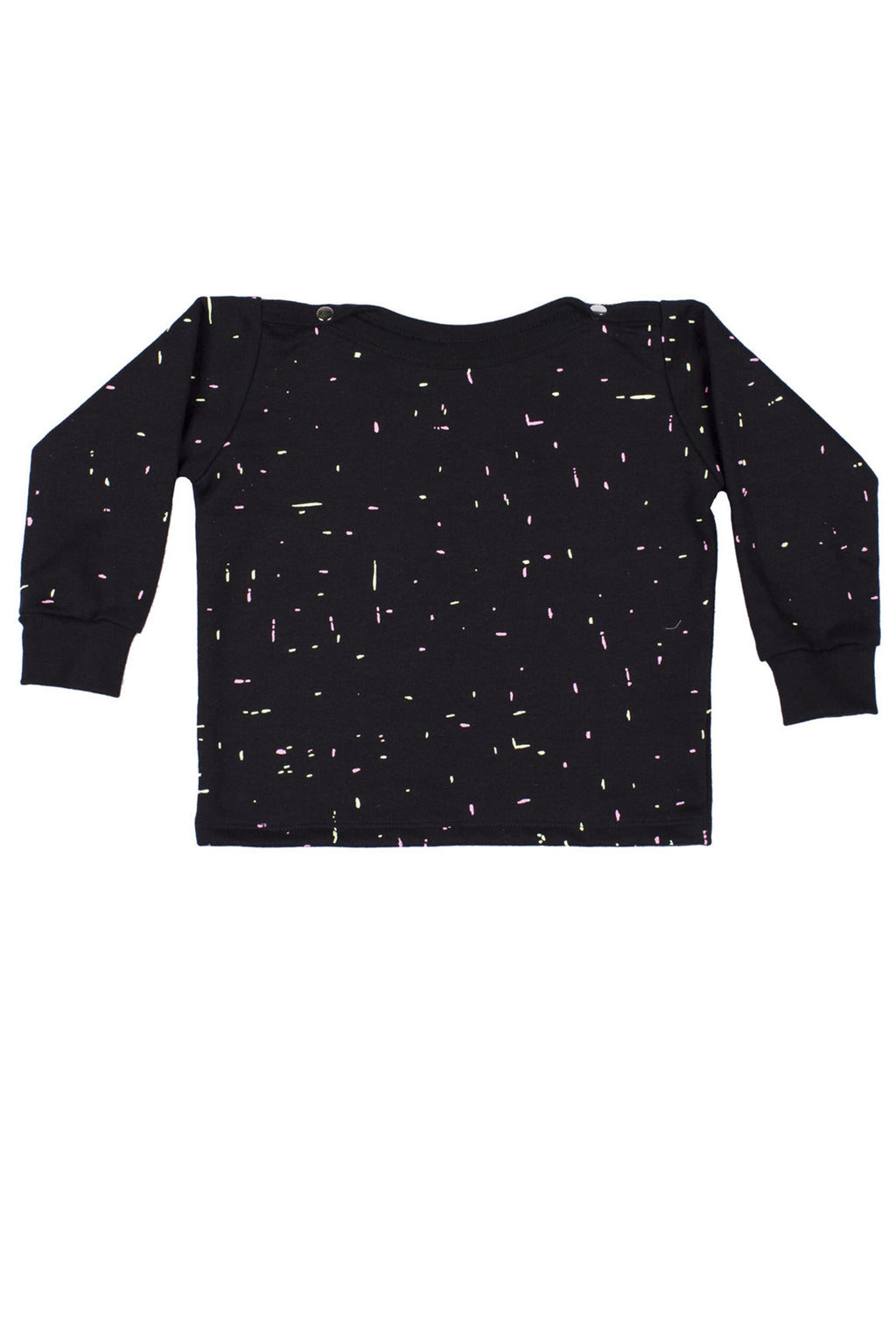 Speckle Baby Sweater Black - Zuttion