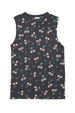 CHERRY TANK DRESS CHARCOAL - Zuttion