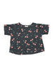 CHERRY CROP TOP CHARCOAL - Zuttion