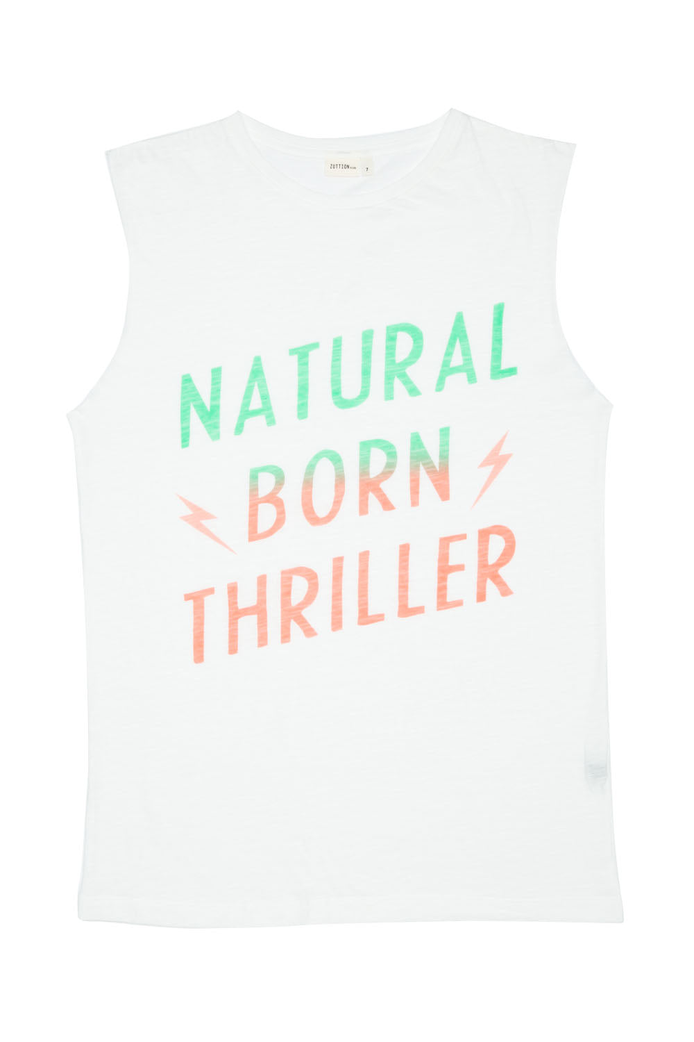 NATURAL BORN THRILLER TANK DRESS WHITE - Zuttion