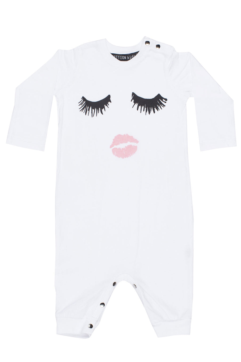 Eyelash Long Onesie White - Zuttion