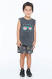 WATERMELON SUNNIES TANK TOP CHARCOAL - Zuttion