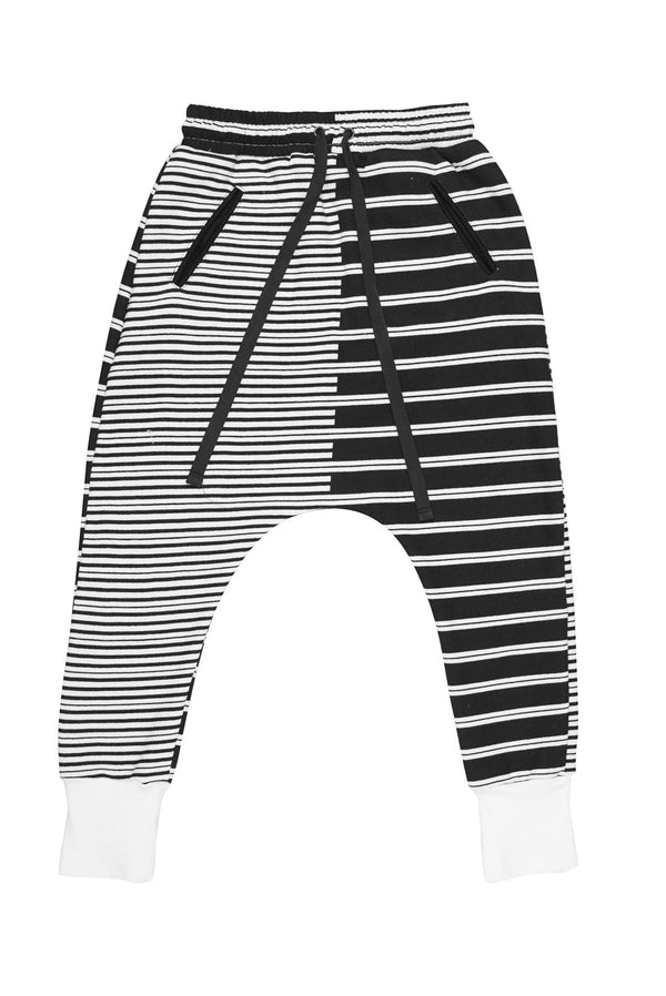 Lola 2 Stripes Trackie Black/White - Zuttion