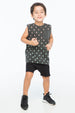 DIAMOND GRADATION TANK TOP POCKET CHARCOAL - Zuttion
