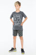 DIAMOND GRADATION BOAT SHORT CHARCOAL - Zuttion