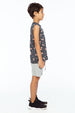 CHERRY TANK TOP POCKET CHARCOAL - Zuttion