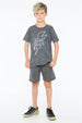 HELL YEAH S/S ROUND NECK T CHARCOAL - Zuttion