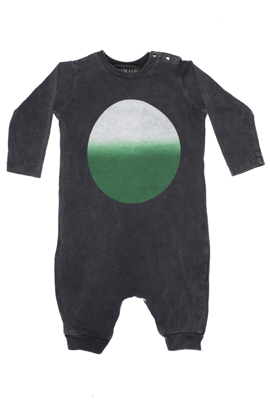 Circle Gradation Long Onesie Charcoal - Zuttion