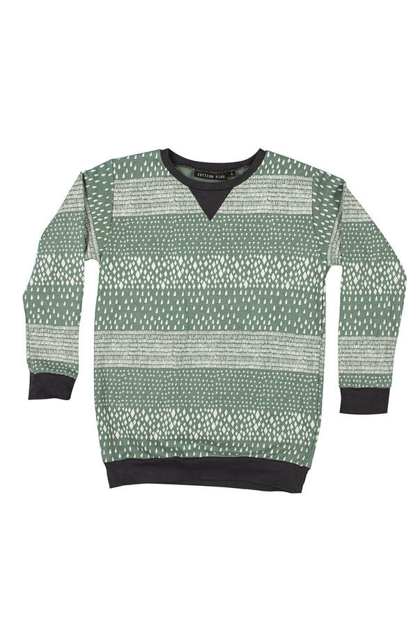 4 Mix Stripes Sweater Emerald - Zuttion