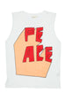 PEACE 3D TANK TOP WHITE