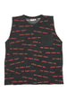 TOO MANY RULES TANK TOP POCKET CHARCOAL