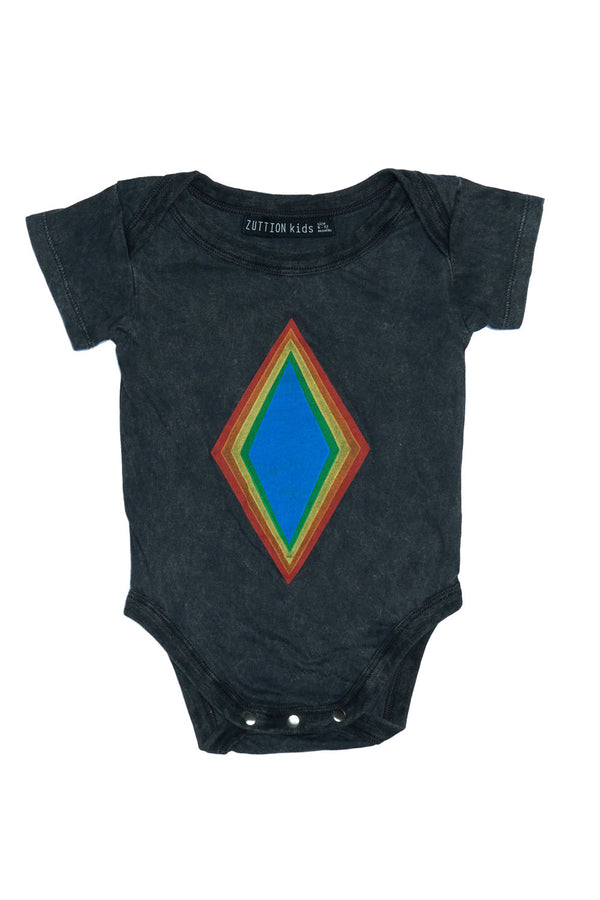 RAINBOW DIAMOND ONESIE CHARCOAL