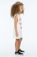 TOO MANY RULES TANK DRESS WHITE - Zuttion