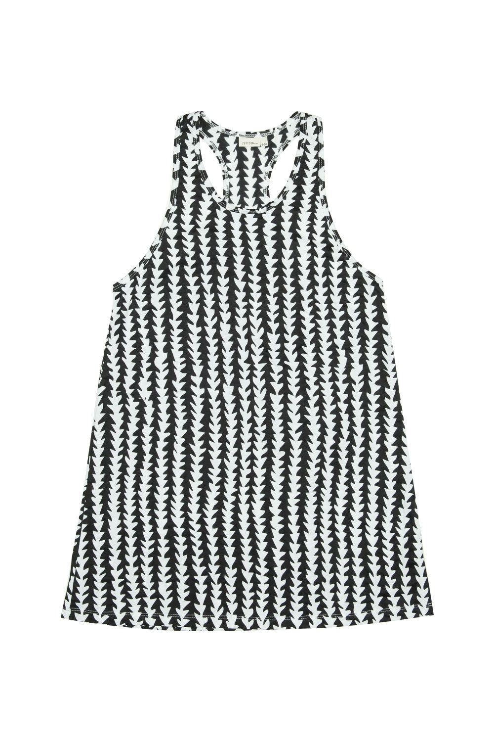 TRIBE SINGLET DRESS BLACK/ WHITE