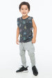 RAD TANK TOP POCKET CHARCOAL - Zuttion